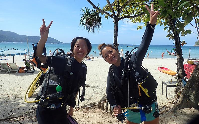 タイ プーケット カタビーチ 体験ダイビング